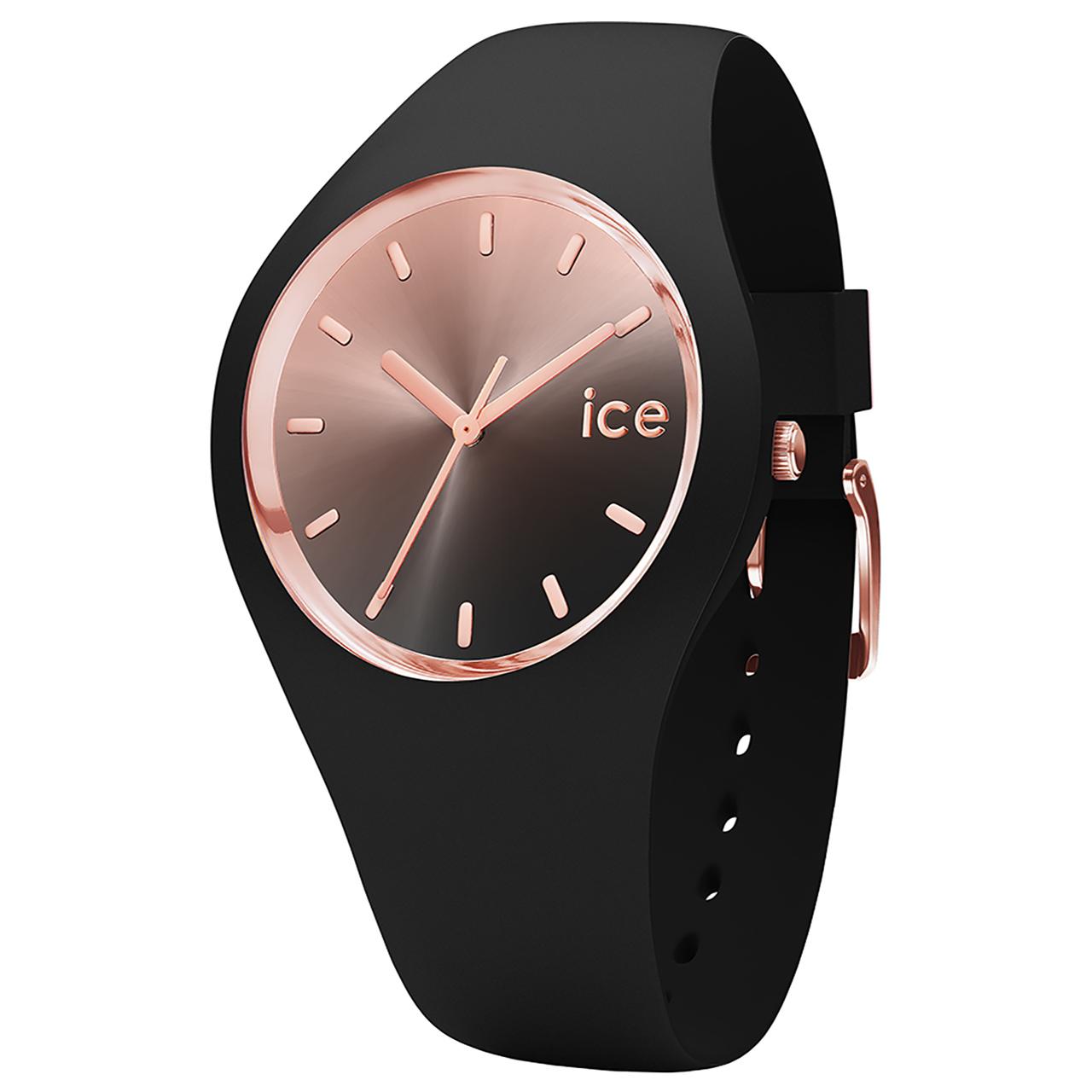 ساعت مچی عقربه ای آیس واچ مدل ICE SUNSET-BLACK-MEDIUM-3H