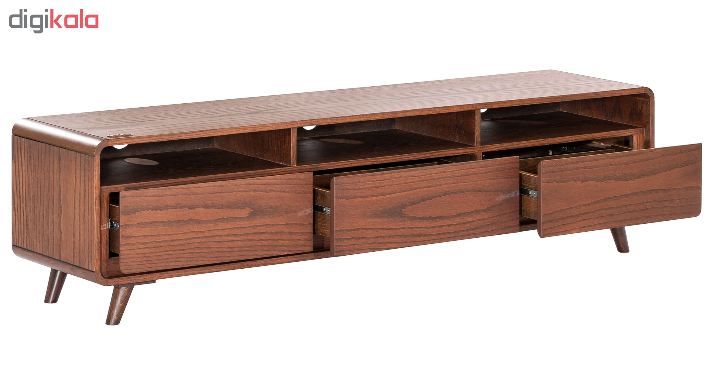 میز تلویزیون آیلکس مدل LONIZ 3D-WALNUT-150