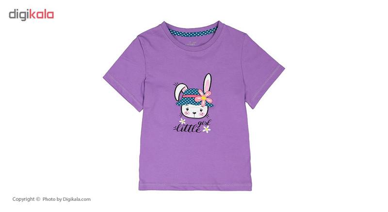ست تی شرت و شلوار راحتی دخترانه ناربن مدل 1521164-64