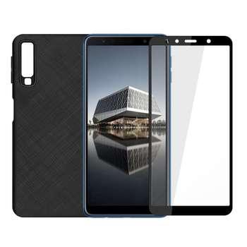کاور سومگ مدل SC-i001 مناسب برای گوشی موبایل سامسونگ گلکسی A750 / A7-2018 به همراه محافظ صفحه نمایش