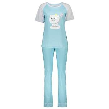 ست تی شرت و شلوار راحتی زنانه ناربن مدل 1521170-50   Narbon 1521170-50 Comfort T-shirt And Pants Set For Women