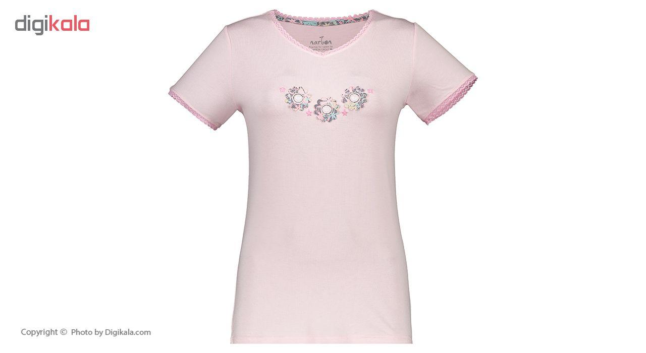 خرید                                      ست تی شرت و شلوار راحتی زنانه ناربن مدل 1521159-84