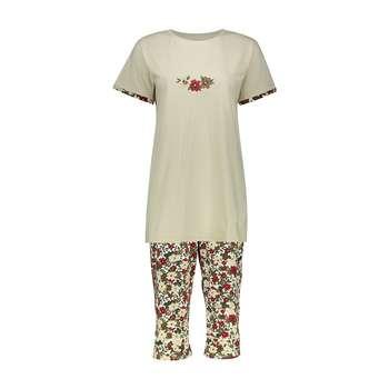 ست تی شرت و شلوارک راحتی زنانه ناربن مدل 1521168-07 | Narbon 1521168-07 T-shirt And Shorts Set For Women