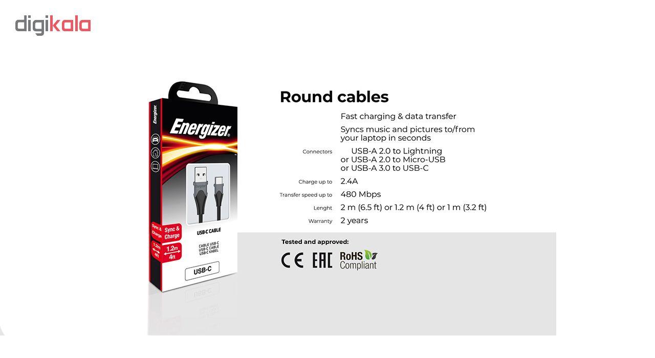 کابل تبدیل USB به micro-USB انرجایزر مدل C61MCG طول 1.2 متر