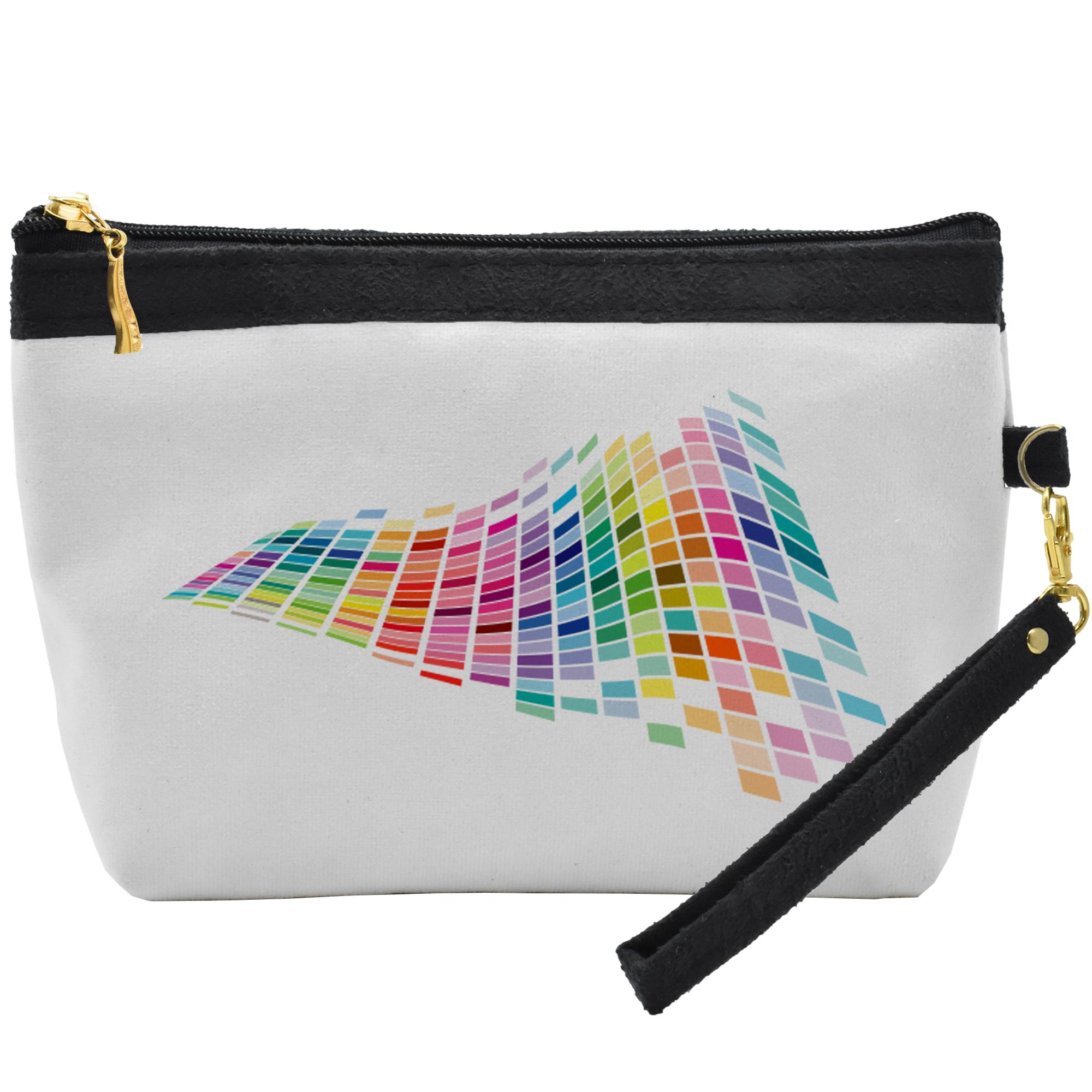 قیمت کیف لوازم آرایشی طرح  رنگارنک کد C30