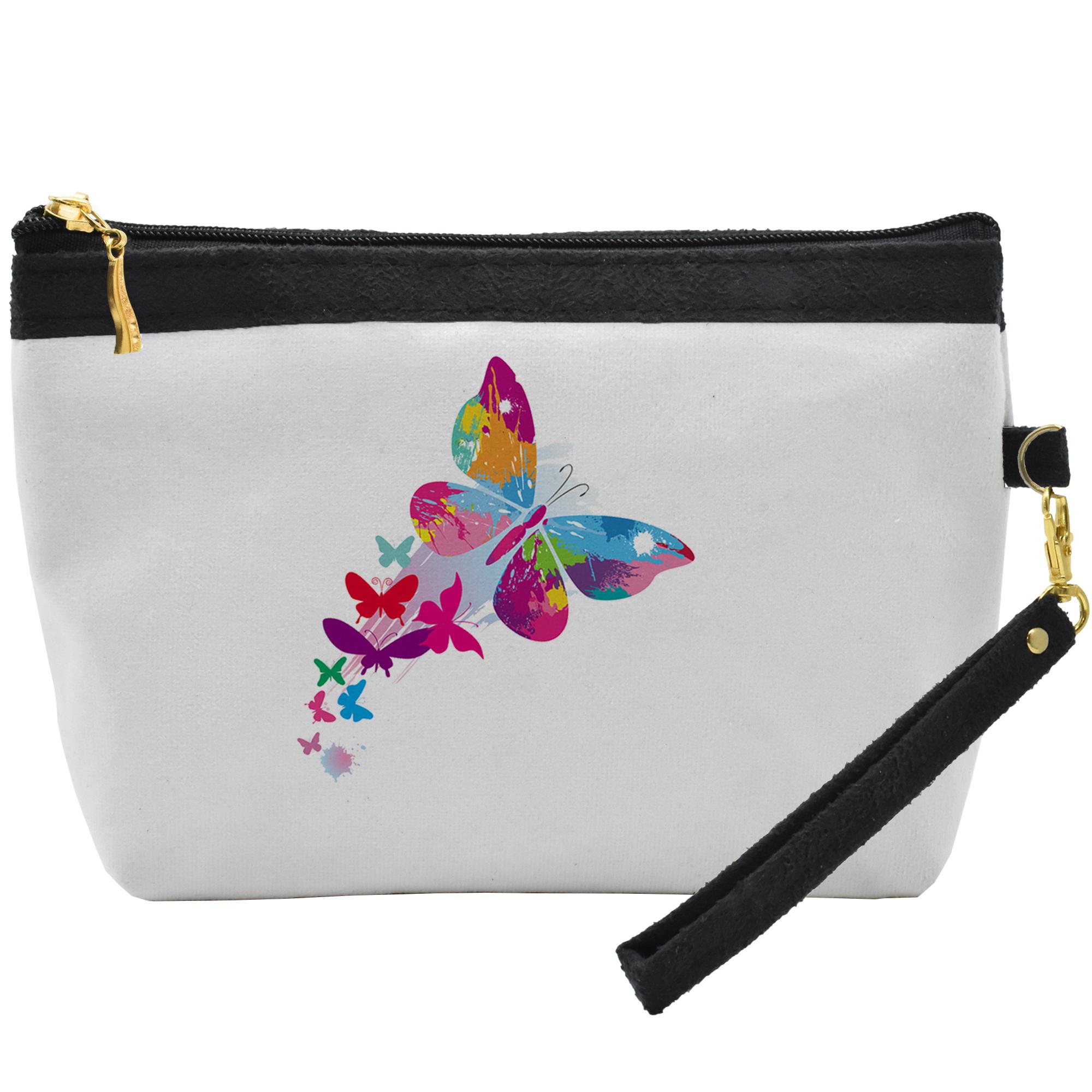 کیف لوازم آرایشی طرح پروانه کد C36