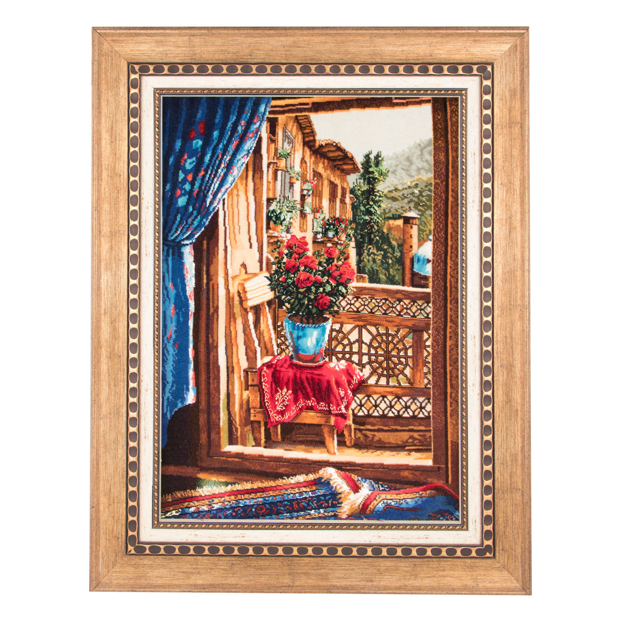 Handmade Persian carpet tableau, code 901607