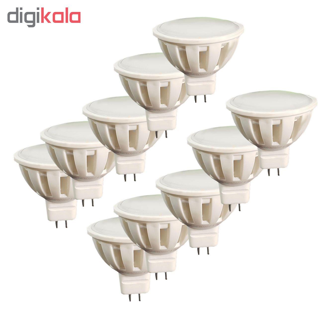 لامپ ال ای دی هالوژنی 2.5 وات مدل DL پایه GU5-3 بسته 10 عددی