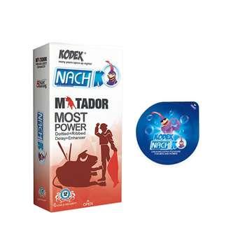 کاندوم ناچ کدکس مدل MATADOR  بسته 12 عددی به همراه کاندوم مدل بلیسر