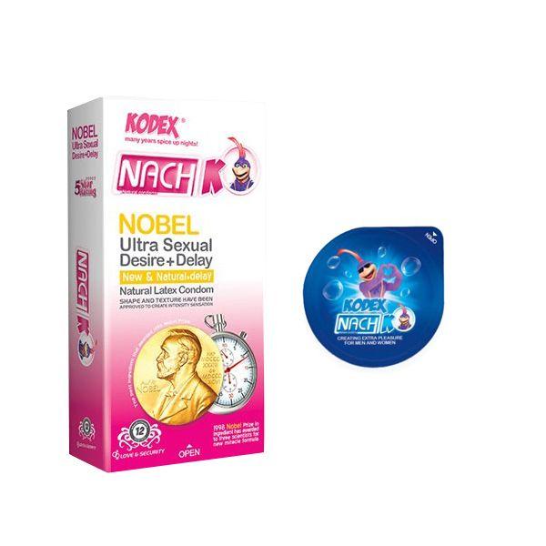 کاندوم ناچ کدکس مدل NOBLE بسته 12 عددی به همراه کاندوم مدل بلیسر
