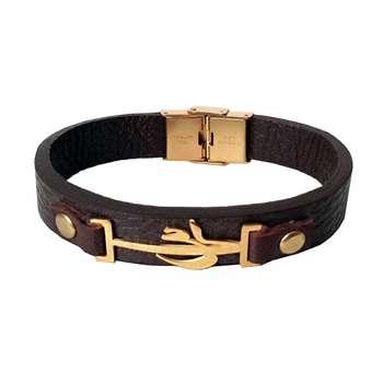 دستبند چرمی مانی چرم کد BL-202