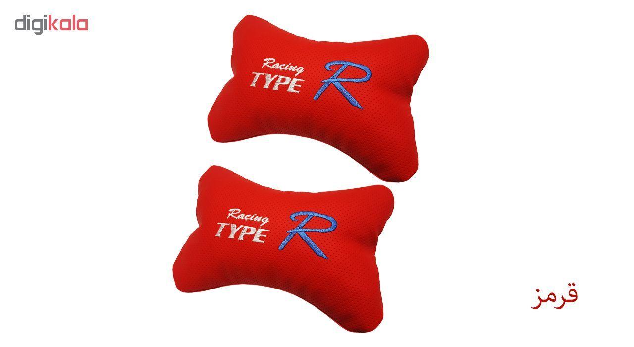 پشت گردنی صندلی خودرو تایپر مدل IR-Typer چرم سوزنی بسته 2 عددی main 1 2