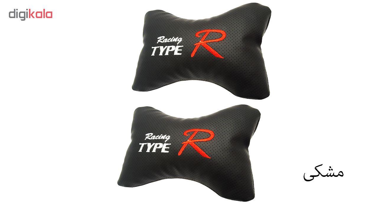 پشت گردنی صندلی خودرو تایپر مدل IR-Typer چرم سوزنی بسته 2 عددی