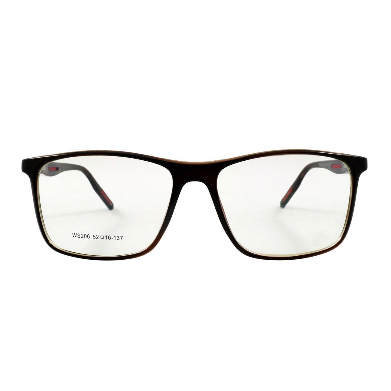 فریم عینک طبی مدل Tr90 Umber Glossy WS206