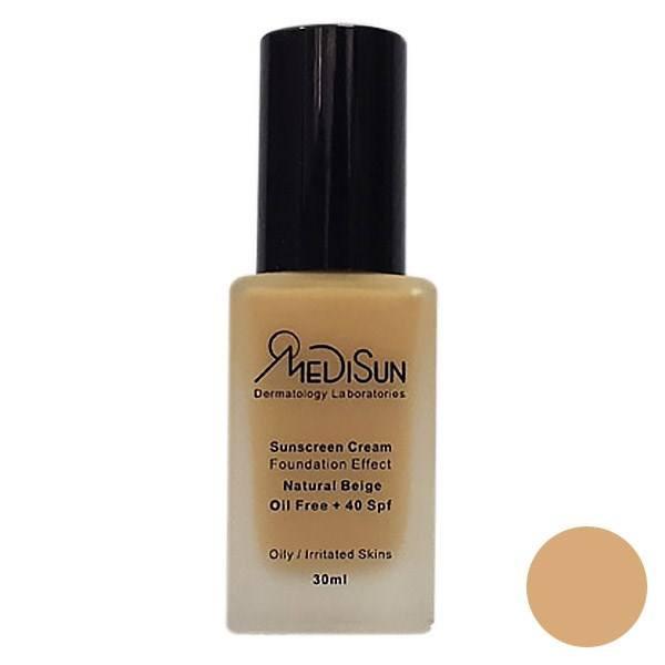 کرم پودر مدیسان سری Oily Skin مدل Foundation Effect No 2 حجم ۳۰ میلی لیتر