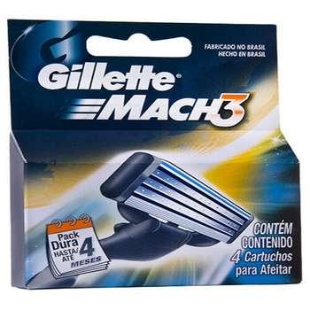 یدک خودتراش ژیلت مدل Mach 3 بسته 4 عددی