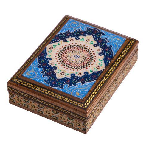 جعبه جواهرات خاتم کاری گالری گوهران مدل اسلیمی کد524