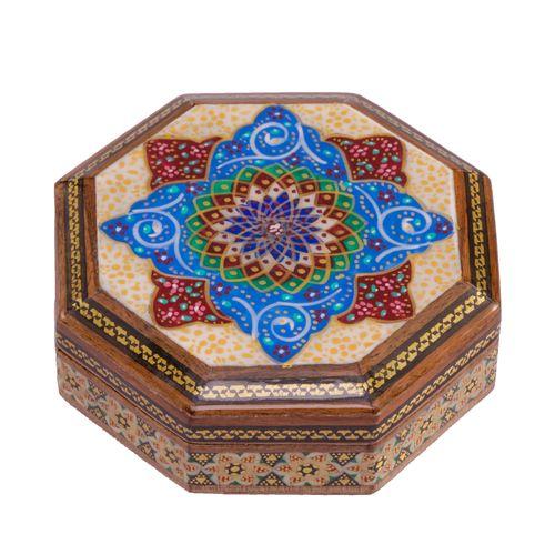 جعبه جواهرات خاتم کاری گالری گوهران مدل 537