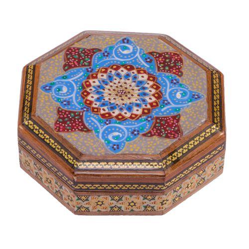 جعبه جواهرات خاتم کاری گالری گوهران مدل 538