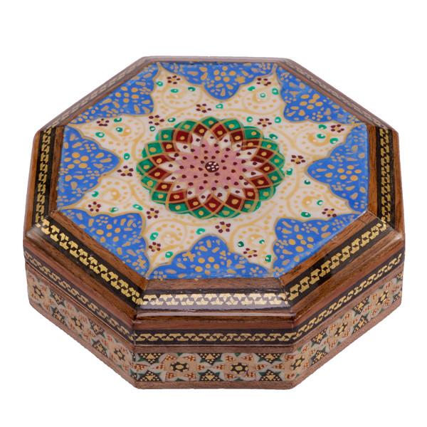 جعبه جواهرات خاتم کاری گالری گوهران مدل 542