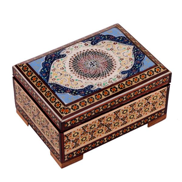 جعبه جواهرات خاتم کاری گالری گوهران مدل 484