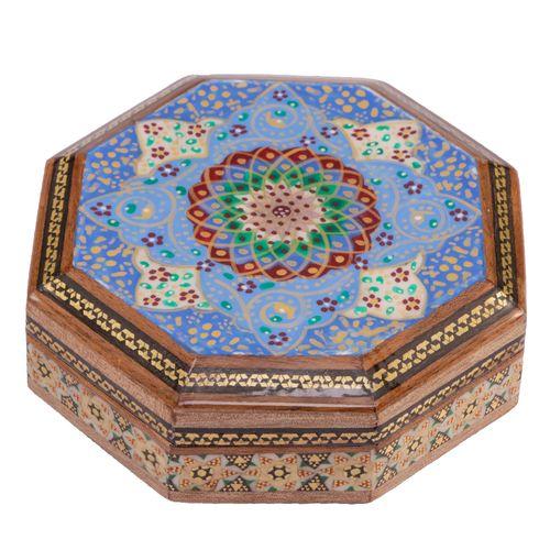 جعبه جواهرات خاتم کاری گالری گوهران مدل 546