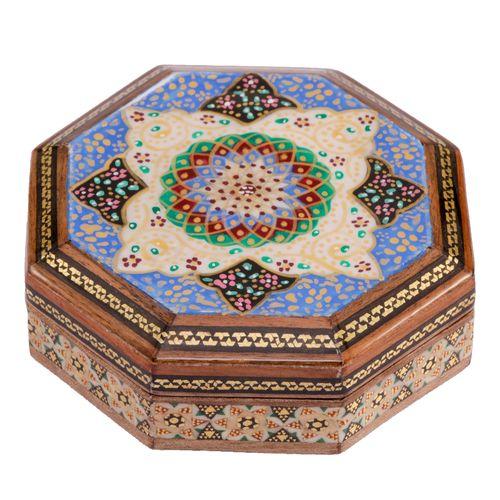جعبه جواهرات خاتم کاری گالری گوهران مدل 547