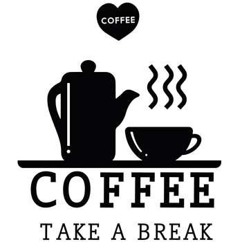 استیکر چوبی ژیوار طرح COFFEE