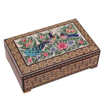 جعبه جواهرات خاتم کاری گالری گوهران مدل 642