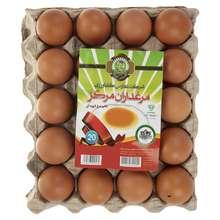 تخم مرغ پوست قهوه ای مرغداران مرکز بسته 20 عددی