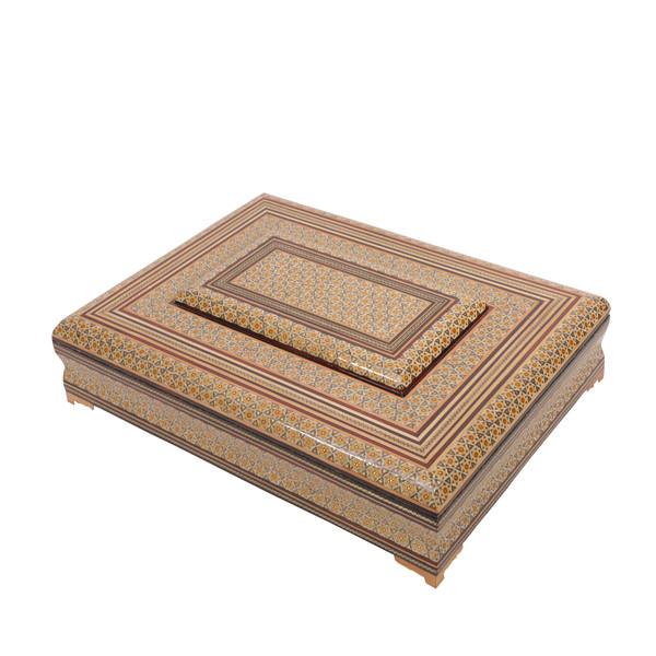 جعبه قرآن خاتم کاری گالری گوهران مدل اصیل 312