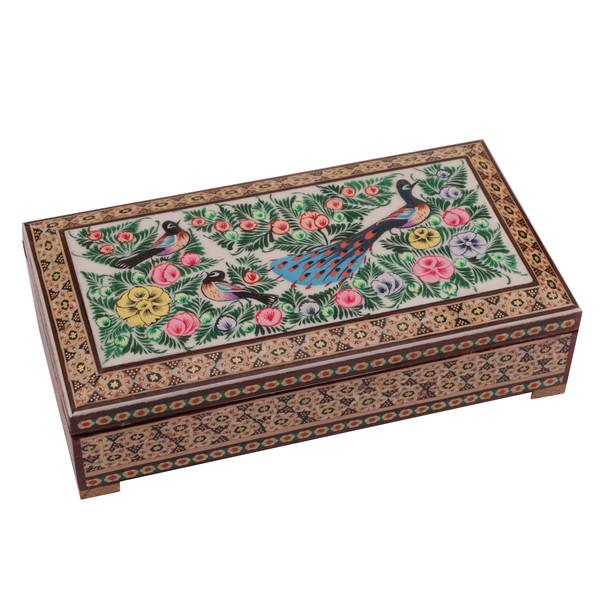 جعبه جواهرات خاتم کاری گالری گوهران مدل 601
