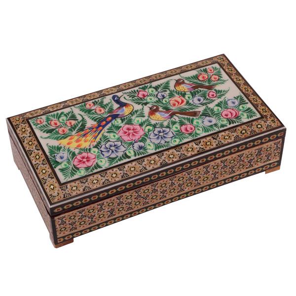 جعبه جواهرات خاتم کاری گالری گوهران مدل 603