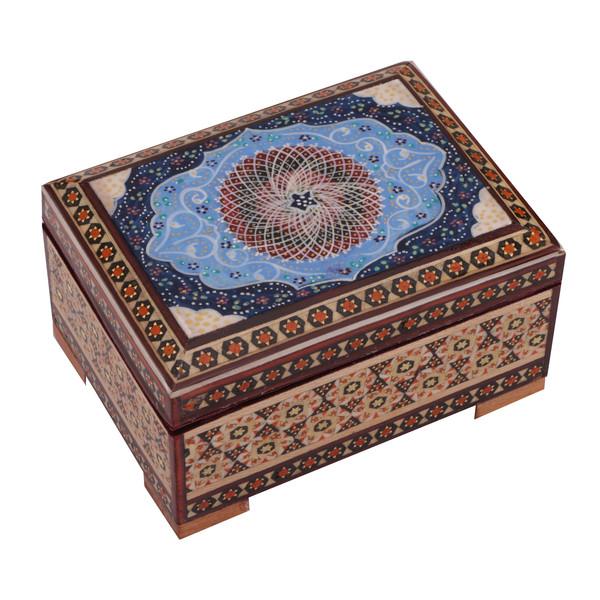 جعبه جواهر خاتم کاری گالری گوهران مدل 481