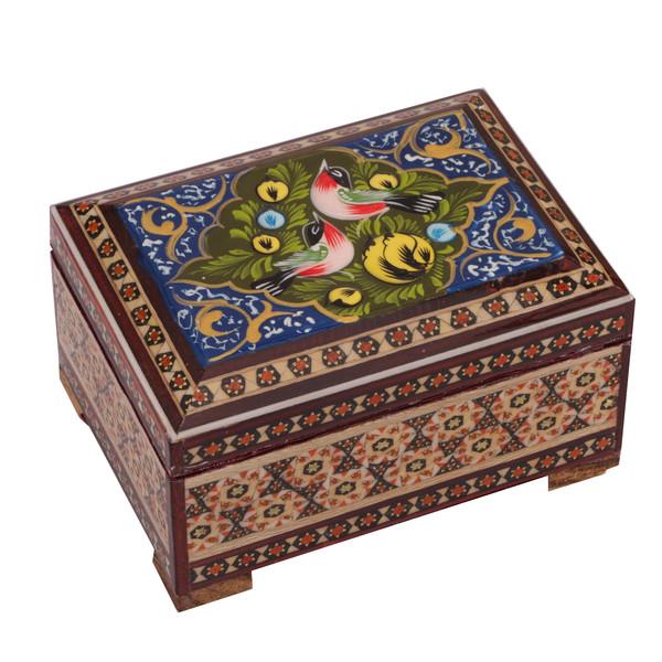 جعبه جواهر خاتم کاری گالری گوهران مدل 489