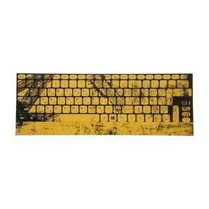 برچسب کیبورد طرح لاستیک کد 24 با حروف فارسی
