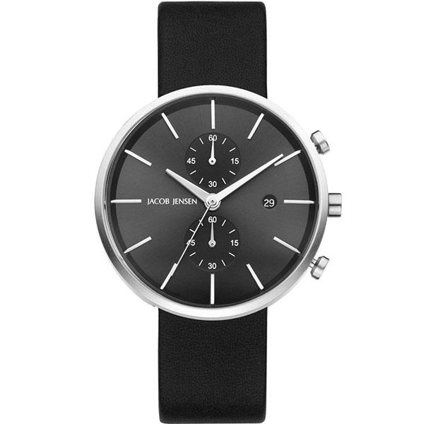 ساعت مچی عقربه ای مردانه جیکوب جنسن مدل Linear Series 620 40