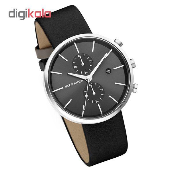کد تخفیف                                      ساعت مچی عقربه ای مردانه جیکوب جنسن مدل Linear Series 620