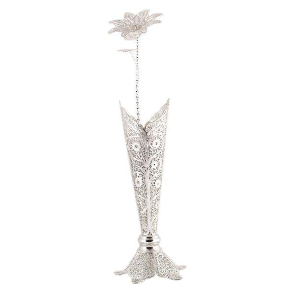 گل و گلدان ملیله کاری رستا مدل 1-12-127