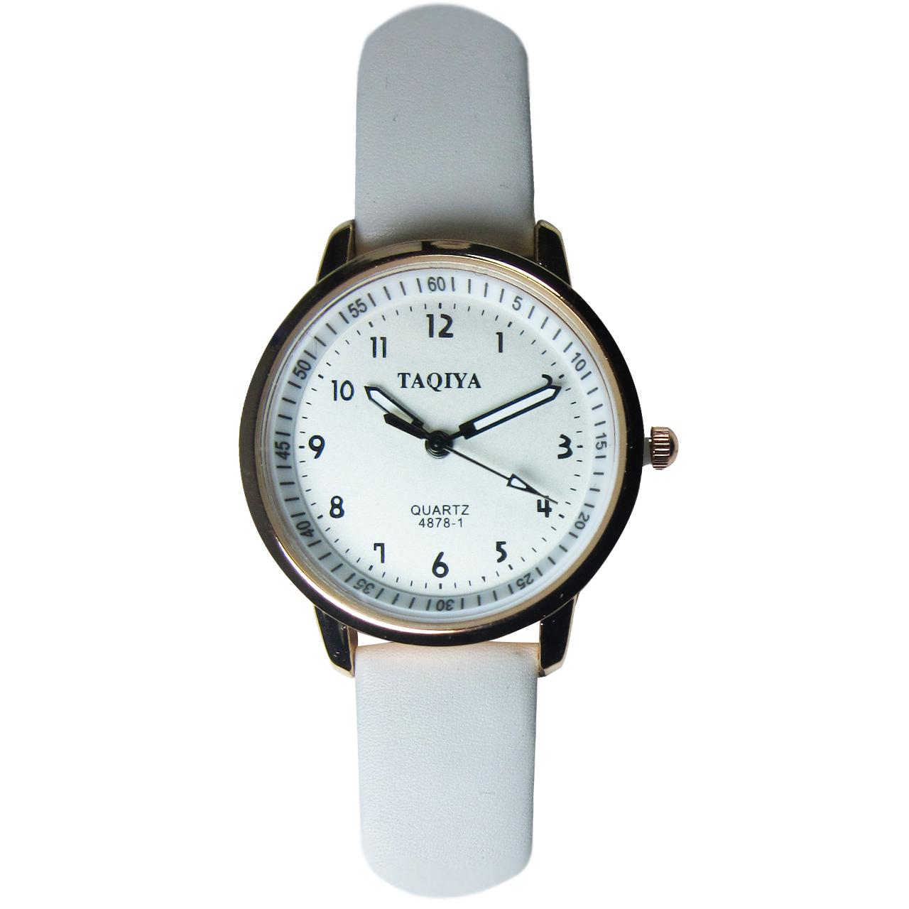 ساعت مچی عقربهای تاکیا مدل 4878-1 رنگ سفید