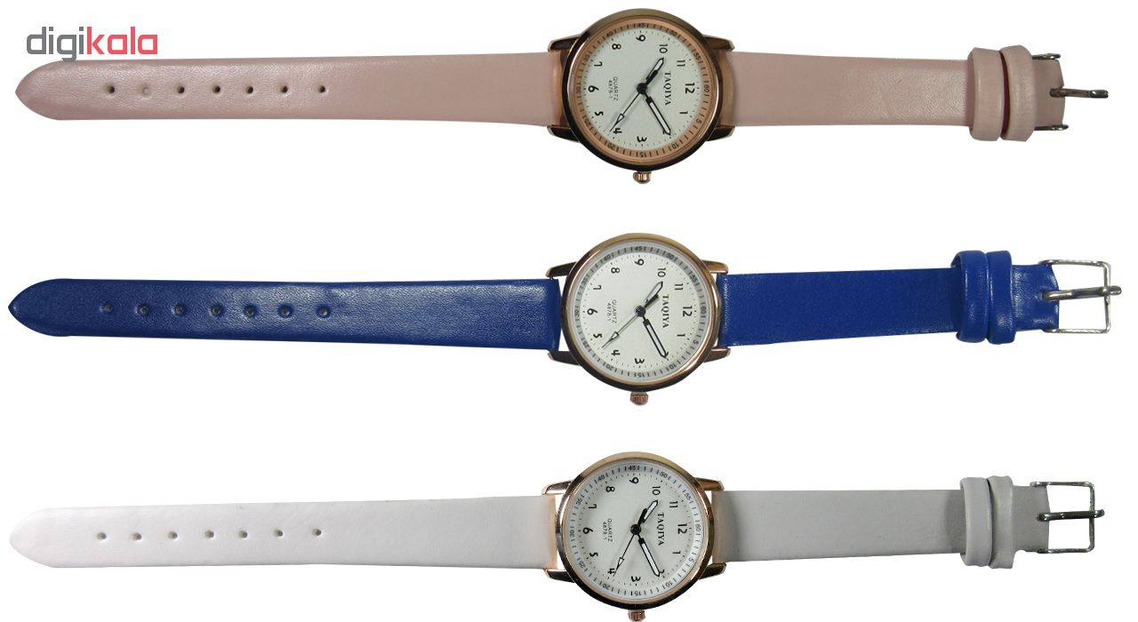 ساعت مچی عقربهای تاکیا مدل 4878-1 رنگ صورتی