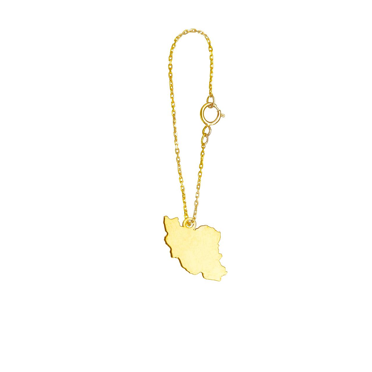 آویز ساعت طلا 18 عیار گالری فرنود مدل WP39