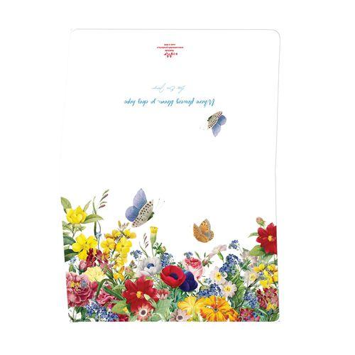 کارت تبریک ستوده طرح گلهای بهاری کد CFC025