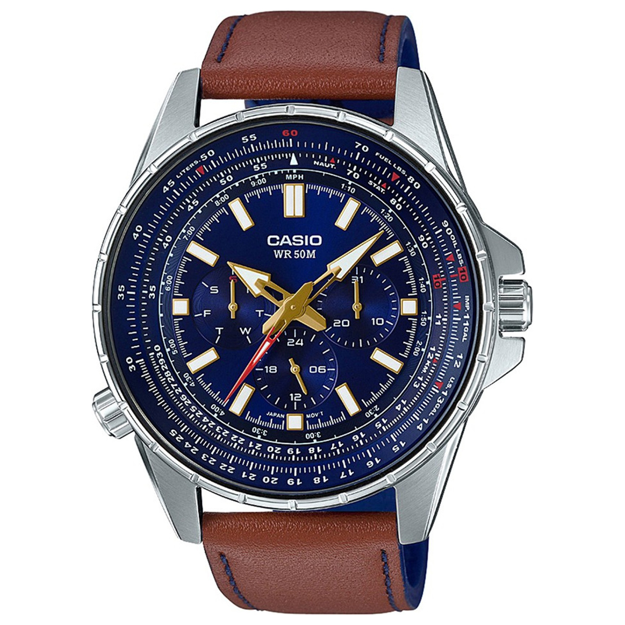 ساعت مچی عقربه ای مردانه کاسیو مدل MTP-SW320L-2AVDF 52