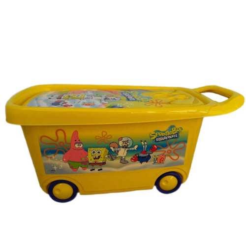 جعبه اسباب بازی کودک طرح باب اسفنجی کد 2 به همراه یک عدد ناخنگیر عروسکی