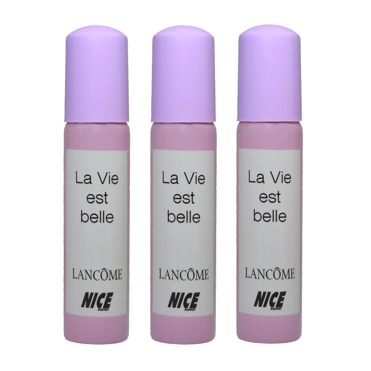ادوکلن جیبی زنانه نایس پاپت مدل La vie est belle حجم 30 میلی لیتر مجموعه 3 عددی