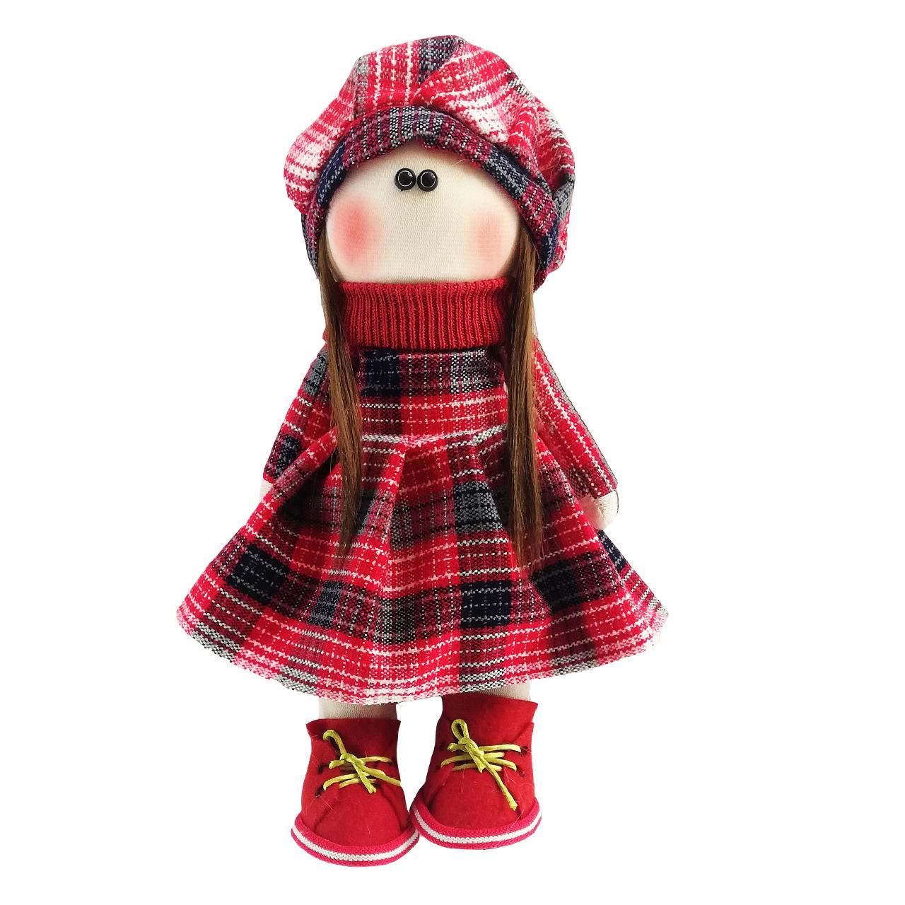 عروسک روسی طرح  کلاه قرمز کد MRK12 ارتفاع 32 سانتی متر
