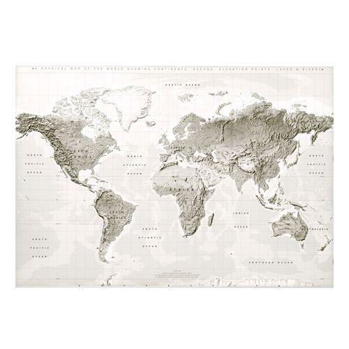 پوستر نقشه جهان ایکیا مدل BJORKSTA