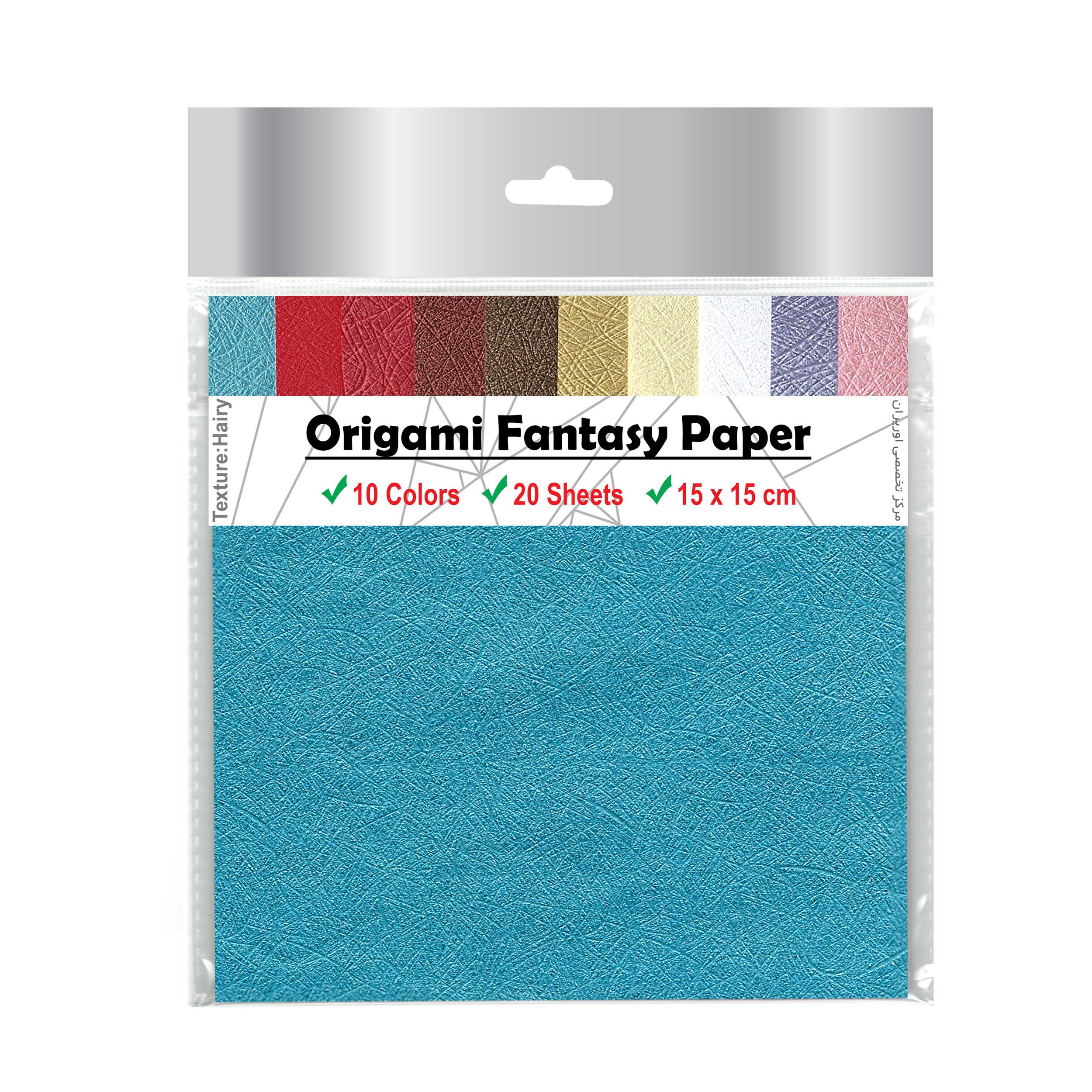 بسته کاغذ اوریگامی اوریران مدل فانتزی طرح موئی کد H15