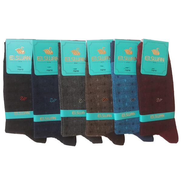 جوراب مردانه ال سون طرح ققنوس کد PH46 مجموعه 6 عددی